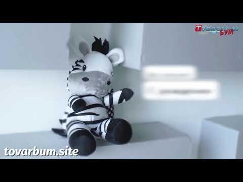 Развивающая мягкая игрушка-подвеска с колокольчиком-погремушкой - Зебра