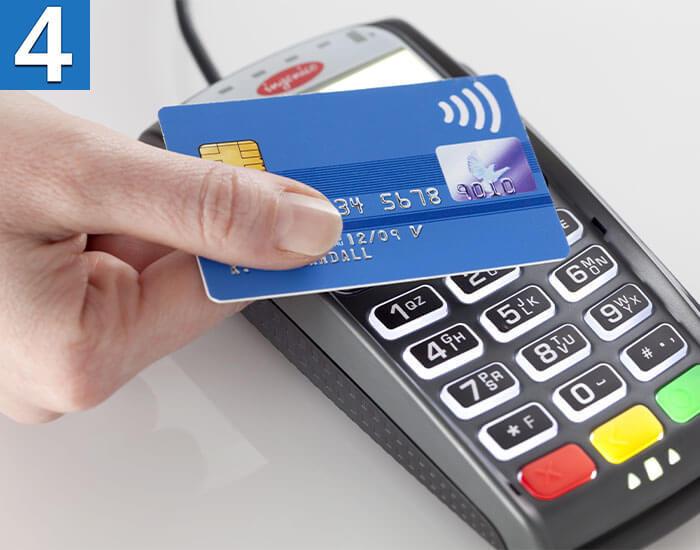 Оплата кредиткой по терминалу