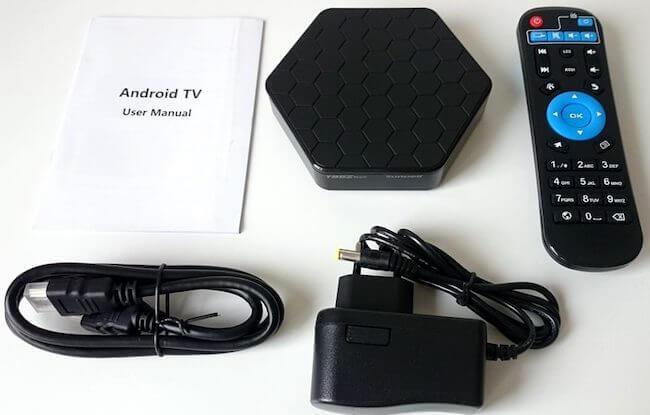 Комплектация ТВ приставки T95Z Plus