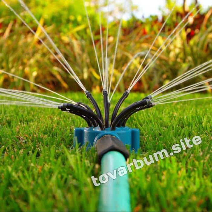 Fresh Garden - система полива установлена и работает на зеленом газоне
