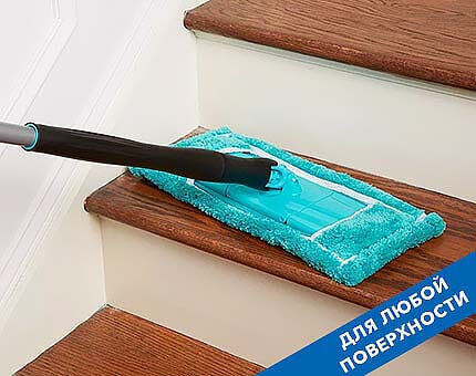 Швабра Titan Twist Mop подходит для мытья любых поверхностей