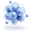 молекула - синяя