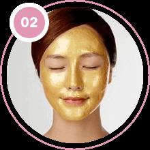 Девушка в золотой маске Cledbel 24K Gold