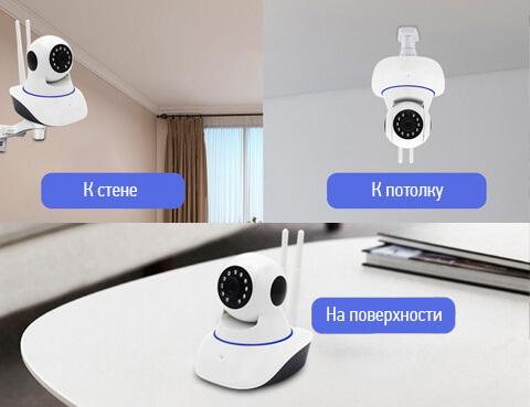 Благодаря креплениям, поворотная IP камера может быть установлена там, где это необходимо