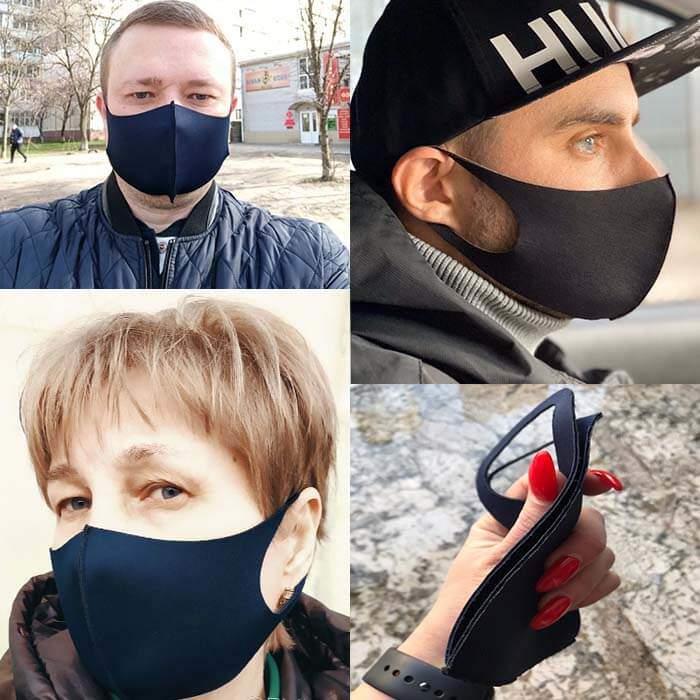 Мужчины и женщина в маске Pitta Mask